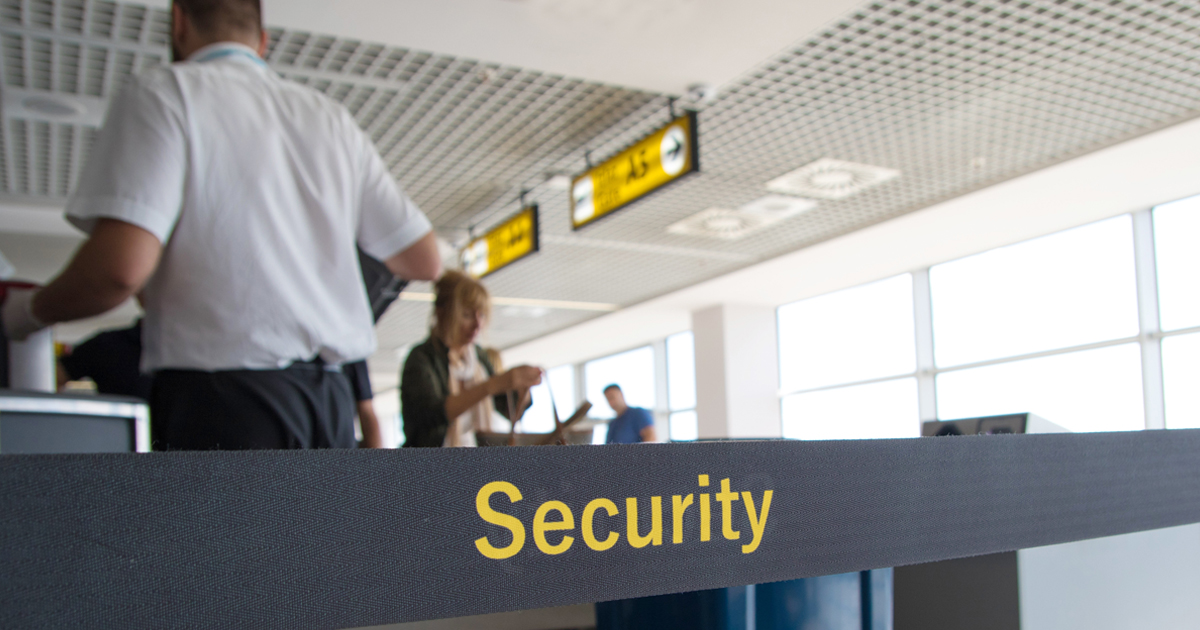 Security checkpoint at the airport