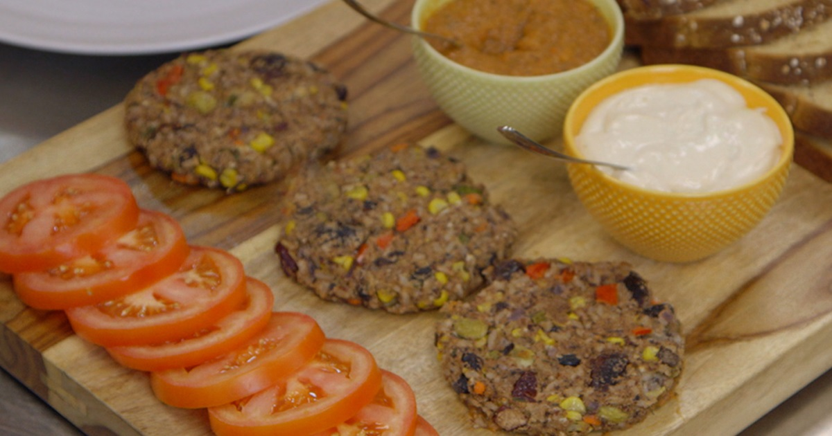 Corn Lentil and Bean Cakes